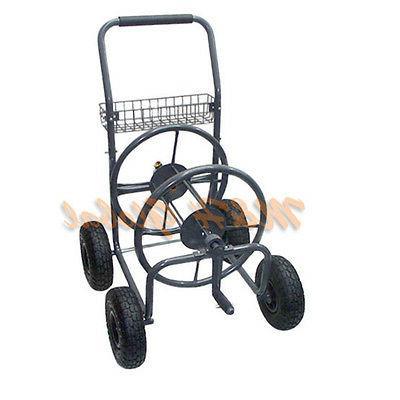 portable garden water hose reel cart
