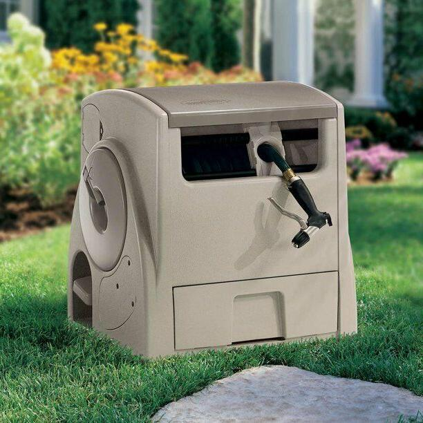 Suncast PW100 Powerwind 100-Foot Capacity Automatic Rewind G