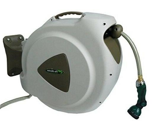 retractable garden water hose reel 65 foot