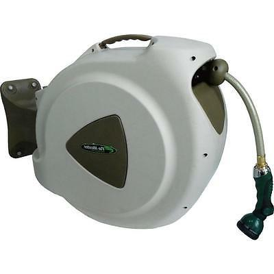 65' Retractable Hose Reel with 8 Spray Pattern Nozzle