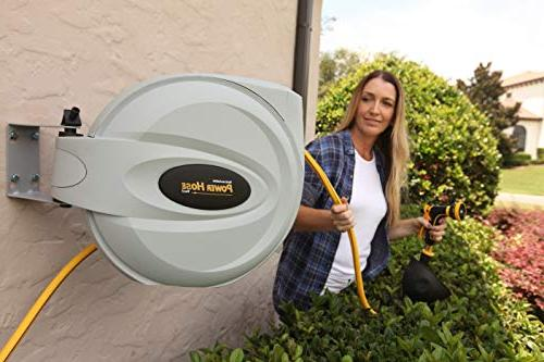 """Power Retractable 5/8"""" 6 Duty, Strength, Hose, Exclusive Twist Collar The"""