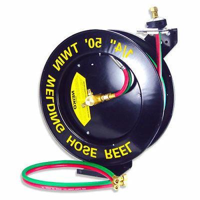 """50ft Retractable Torch Welding Reel 1/4"""" Oxygen Acetylene Au"""