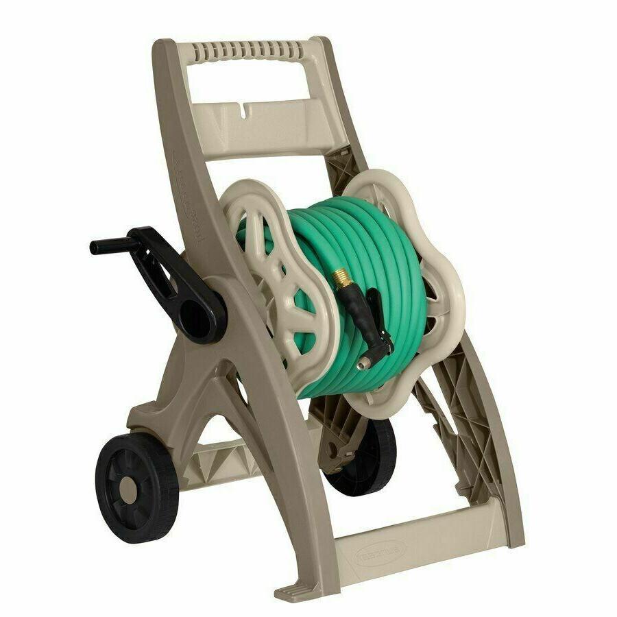 Water Hose Reel Cart 175 Ft Durable Mobile Outdoor Garden Pa