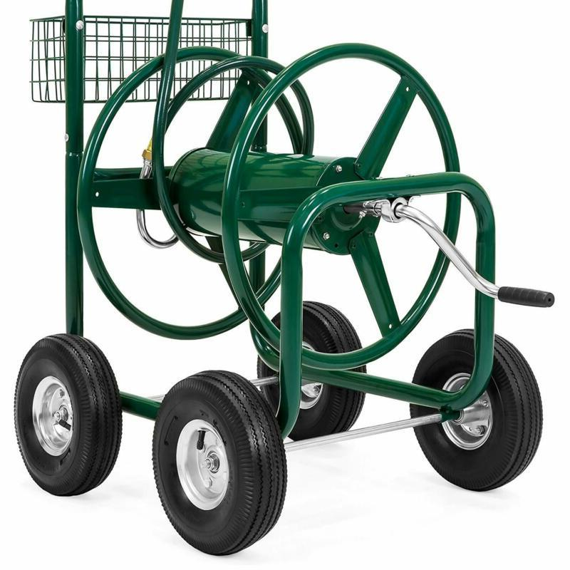 Water Reel Cart W/ Outdoor Garden, Heavy Water