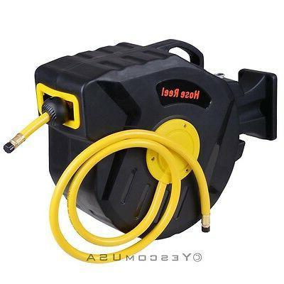 """3/8"""" X 50' Auto Air Compressor Hose Reel Garage"""