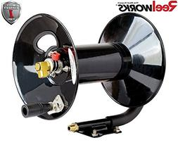 ReelWorks Hand Crank Air Compressor Hose Reel Without Hose