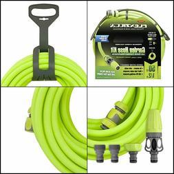 Legacy Flexzilla Garden Hose Kit w/ Quick Connect, Nozzle, &