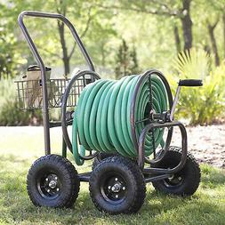 Liberty Garden 4 Wheel Garden Hose Reel Cart Holds 250-Feet