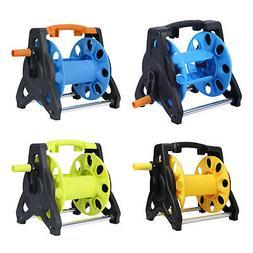 Manual Hand Crank Rewind Garden Hose Reel Cart Holder Pipe S