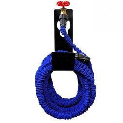 Metal Garden Hose Pipe Holder Black Reels Hanger Outdoor Wal