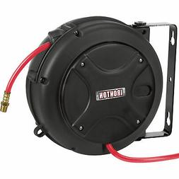 Ironton Mini Air Hose Reel - With 1/4in. x 26ft. PVC Hose, M