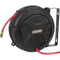 Ironton Mini Air Hose Reel - With 1/4in. x 26ft. Hybrid Poly