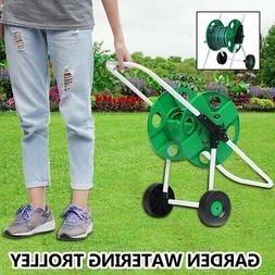 movable garden watering trolley complete hose pipe