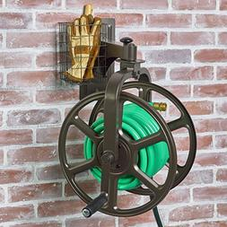 Multi-Directional Swivel Garden Hose Reel Holds 125-Feet 5/8
