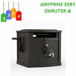 Never Leak Resin 150 Ft Hose Reel Hideaway Storage Cabinet F