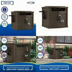 Never Leak Steel 150 Ft Hose Reel Hideaway Storage Cabinet F