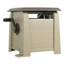 Never Leak Hose Cabinet, Hose Guide, Hideaway, Gray, Manual,