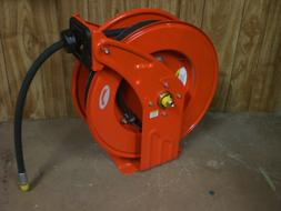 "NEW Heavy-Duty Retractable Oil Hose Reel 1/2"" x 50' Hose   2"