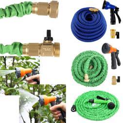 NEW SALE Green Latex Expanding Flexible Garden Water Hose wi