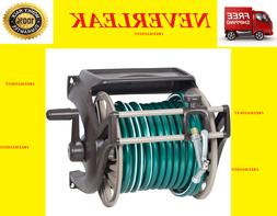 Outdoor Wall-Mount Garden Watering Hose Reel NeverLeak Plast