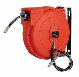 REELWORKS Plastic Retractable Air Compressor/Water Hose Reel