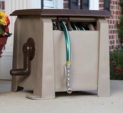 Plastic Retractable Garden Hose Reel Cart Pressure Water Out