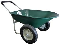 5 Cubic Feet Poly Wheelbarrow - Color: Green