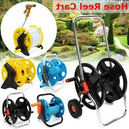 Portable Aluminum Garden Water Pipe Hose Reel Cart Outdoor P