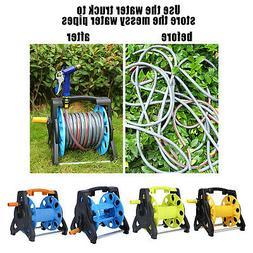 Portable Hand Crank Garden Hose Reel Cart Storage Winding Pi