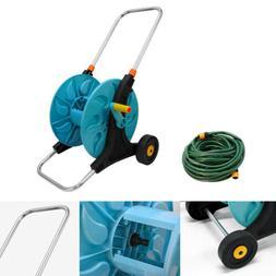 Portable Hose Pipe Trolley Reel Garden Hose Cart 20M Hose w/