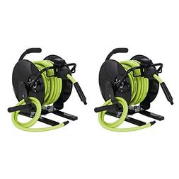 Flexzilla Portable Workforce Open Face Manual Air Hose Reel,