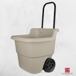 Suncast Resin Rolling Lawn and Utility Cart with Retractable
