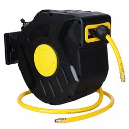 "3/8"" X 50' Retractable Air Compressor Hose Reel 300 PSI Auto"