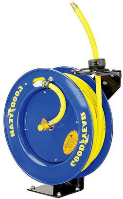 Retractable Air Hose Reel 50 ft. x 3/8 in. Air Compressor Pa