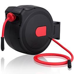 Goplus Retractable Air Hose Reel w/Lock Mechanism, 3/8 in, C
