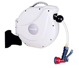 "GartenKraft Retractable Garden Hose Reel, 1/2"" 100'"