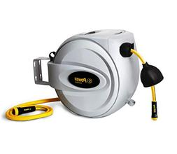 "Power Retractable Hose Reel 1/2"" x 100 ft, Super Heavy Dut"
