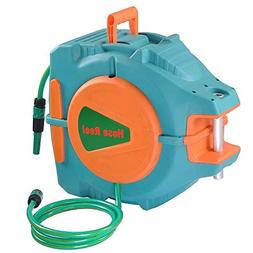 65Ft Auto Rewind Garden Water Hose Reel Retractable Automati