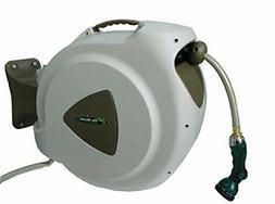 Retractable Garden Water Hose Reel 65 Foot Cord Auto Rewind