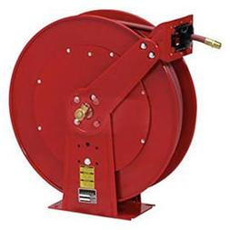 Spring Retractable Hose Reel Dual Pedestal All Steel With Ho