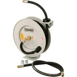 Roughneck Spring-Rewind Fuel and Oil Hose Reel with Hose - 1