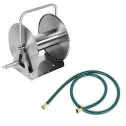 Stainless Steel High Pressure Washer Metal Hose Reel With 3/