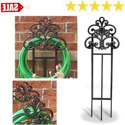 steel 100 ft stand garden hose reel