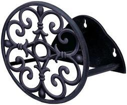 Hose Holder Reel Rack Steel Wall Mount Hanger Black w 3D Leave  Garden Treasures