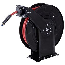 """Goplus Steel Air Hose Reel with Retractable 3/8""""x 65' Rubber"""