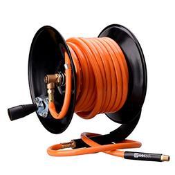 """WYNNsky Steel Manual Air Hose Reel Include 3/8""""x50FT PVC Air"""