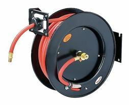 "ReelWorks  Steel Retractable Air Compressor Hose Reel 3/8"" x"