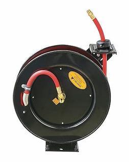 ReelWorks Steel Retractable Air Compressor/Water Hose Reel w