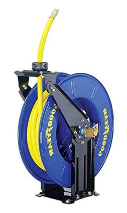 Goodyear Steel Retractable Air Compressor/Water Hose Reel wi