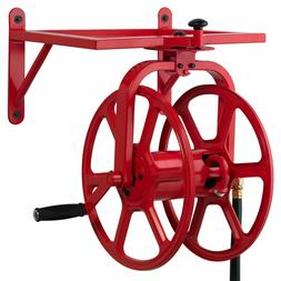 Swivel Garden Hose Reel Multi-Directional Holds 150-Feet of